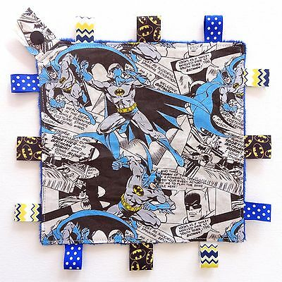 Batman Mini Size Taggie Security Blanket Toy comforter dummy clip holder