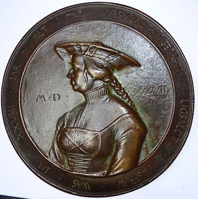 Germany - 1527 Augsburg Ursula Ligsalcz 28th year Uniface bronze cast medal