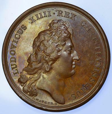 France - Louis XIV 1672 King holding the seal / Justice medal by Mauger