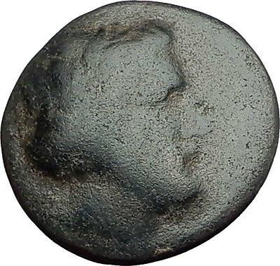 KRANNON in THESSALY 350BC Authentic Ancient Greek Coin POSEIDON HORSEMAN i62663