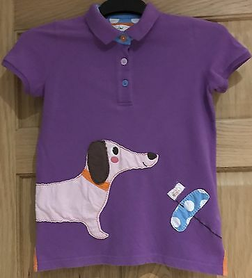 Girls mini boden summer dog polo shirt age 9 10 years 4 for Mini boden germany