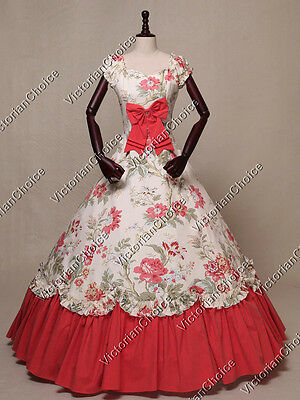 Victorian Southern Belle Westworld Ball Gown Dress Theater Halloween Costume 273