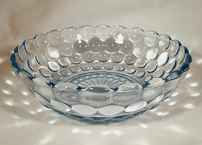 """Anchor Hocking Glass Co. Bubble Sapphire Blue 5-1/4"""" Diameter Cereal Bowl!"""