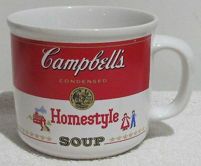 Campbell's Collectible Soup Cup/Mug (Homestyle) Red and White (1989) NOS