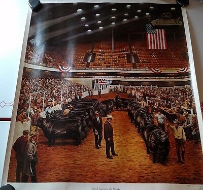 F C Murphy color advertising poster 1966- American angus association 20 x 24