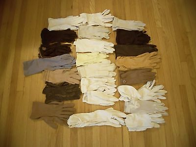Vintage Ladies Multi Colored Gloves Lot 22 pairs 1940's-1960's