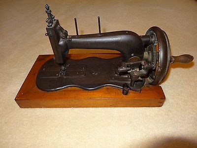 Old Antique Muller Hand Crank Sewing Machine
