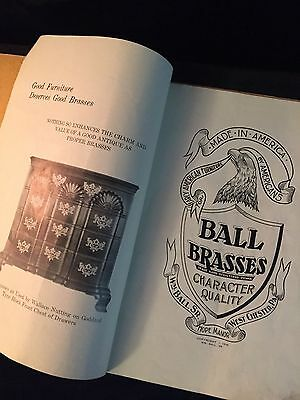 1936 WM BALL BRASSES 1752-1793 Catalog Penn. ANTIQUE FURNITURE Reference Guide