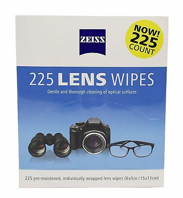 Zeiss Pre-Moistened Lens Cleaning Cloth Wipes  Packs of 225 wipes