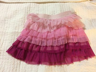 Adorable Naartjie Ruffle Polyester Tulle Skirt Pink and Purple GUC 18-24 Months