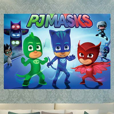A4 Pj Masks Wall Art Poster Print Picture Photo A4 A3 260Gsm Glossy