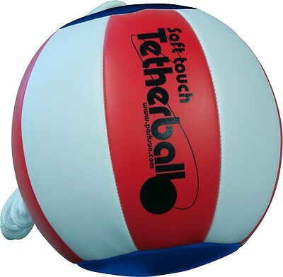 Park & Sun Sports Soft Touch Tetherball with 7 Nylon Cord and Clip, Americana