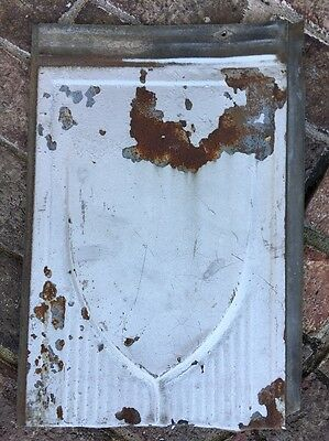 Galvanized 1930's Embossed Roof Shingles Ceiling Tin Industrial Rustic Decor