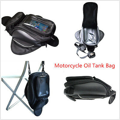 Universal Waterproof Motorcycle Motorbike Black Magnetic Oil Fuel Tank Bag Belt