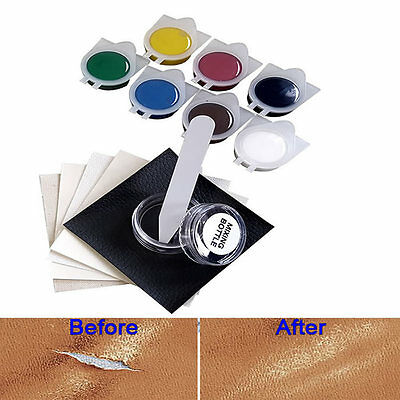 Car Seat Leather Upholstery Hole Rips Burns No Heat Liquid Vinyl Repair Tool Kit