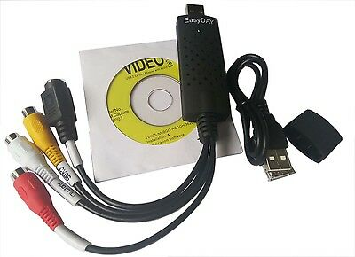 USB 2.0 Easycap Video Audio VHS to DVD PC Grabber Converter Capture Card Adapter