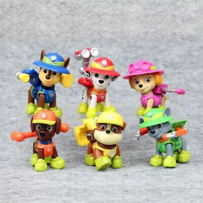 6pcs Paw Patrol Dogs Action Figurine Transformation Toy Figure Cake Topper Toys