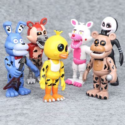 6Pcs five nights at freddys Figure Cake Topper Toys Figurine  Bonnie Foxy Chica