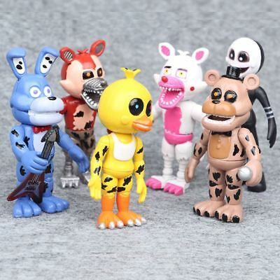 6Pcs five nights at freddys Figurines Cake Topper Action Figure Gift Collectible