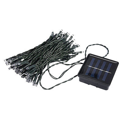 SS 33FT 10m 50 LED Solar Powered Fairy String Lights Waterproof for Outdoor, Gar