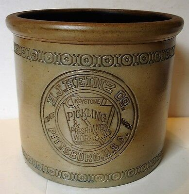 Rare  H.J. Heinz Co. Keystone Pickling & Preserving Works Crock.