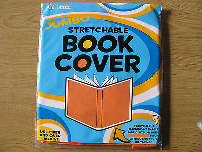 It's Academic Jumbo Stretchable Fabric School Book Cover – ORANGE- Factory Seale