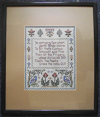 Antique Needlework Sampler Cross Stitch