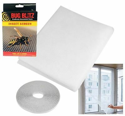 New Large Window Door Insect Net Kit Fly Bug Mosquito Curtain Screen Mesh