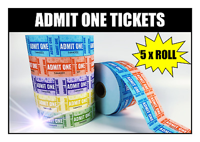 5 X Rolls BSG Admission Tickets Admit One Tickets 1000 Per Roll