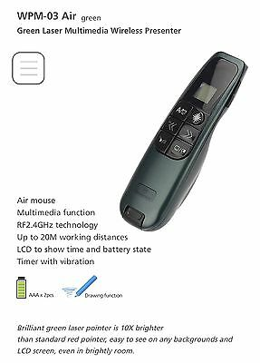 Micropack Dual Laser Presenter Pointer & Computer Air Mouse with Timer Alarm