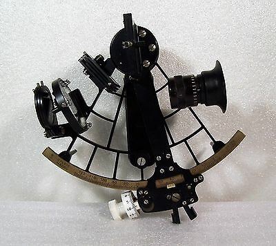 C. Plath Micrometer Sextant Made in Germany Case & Certificate Vintage Maritime