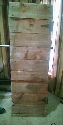Antique  interior Barn Door Walk thru Rustic  Primitive old vintage awesome