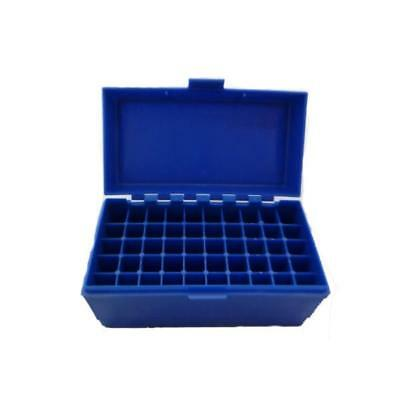 FLIP TOP PLASTIC 50 RIFLE ROUND CARTRIDGE AMMUNITION BOX CASE for ammo bullet