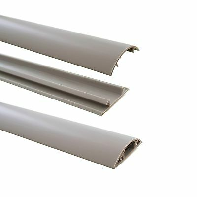 Floor Cable Channel 1M Self Adhesive 40mm Wide Grey