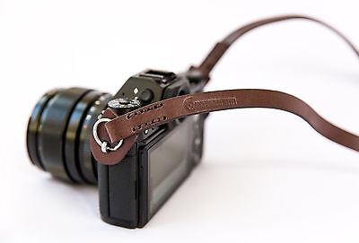 Ltd. Edition Vintage Leather Camera Strap for Leica, Sony etc. (Brown, 95cm)