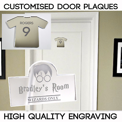 Football Shirt Personalised Door Name Plaque Boys And Girls Bedroom Sign L1061