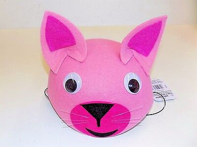 Pink Cat Halloween/Dress Up/Play Felt Hat w/Elastic One Size Ages 3+ FREE SHIP