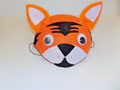 Tiger Halloween/Dress Up/Play Felt Hat w/Elastic One Size Ages 3+ FREE SHIP