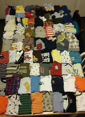 Huge 88 piece lot of baby boy clothes size 3-6 month, 6 month,and 6-9month
