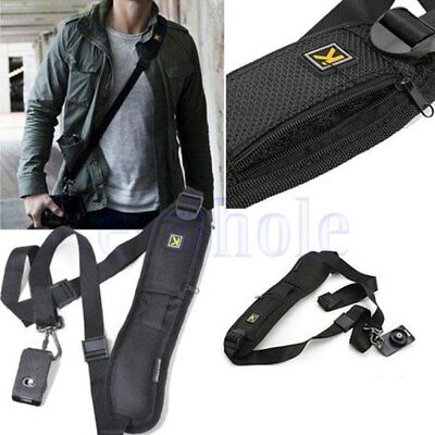 Single Shoulder Decompression Sling Quick Camera Belt Strap For DSLR Digital h2