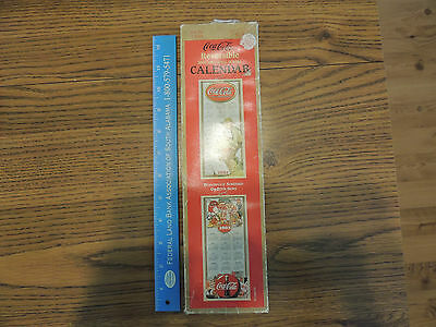 """vintage Coca Cola 2002 - 2003 wall scroll calendar New in box 30"""" by 12 1/2"""""""