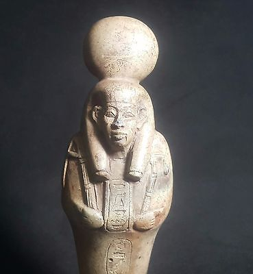 Rare Ancient Egyptian  Queen Tey with a solar disk  New Kingdom (1549to1069 BC)