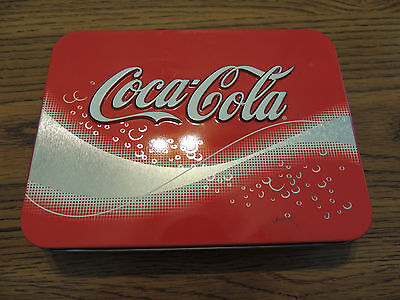 Coca Cola playing cards  2 sealed decks Santa Christmas in Coke Tin NEW lot 6