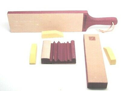 Flexcut Leather Slipstrop Sharpening Set Kit with Gold Polishing Compound