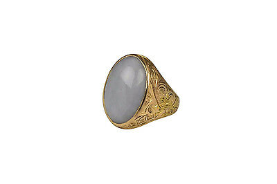 19th Century Chinese 22 Karat Gold & Lavender Jade Ring