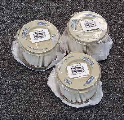 Racor # 2010TM-OR  (3) Filter elements for 500 Turbine 10 Micron With Seal