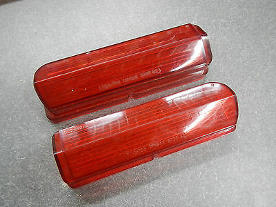 NORS 1962 Buick LeSabre Invicta Tail Light Lenses Pair (2) Taillight Red Lens 62