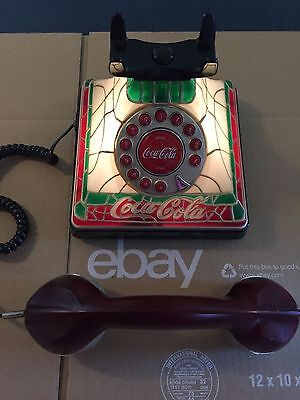 LIGHT UP Polyconcept COCA-COLA COKE STAINED GLASS LOOK PHONE Tiffany Telephone