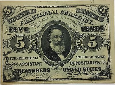 5 Cent 3rd Issue Fractional Currency FR# 1238 ~ 1864-1869