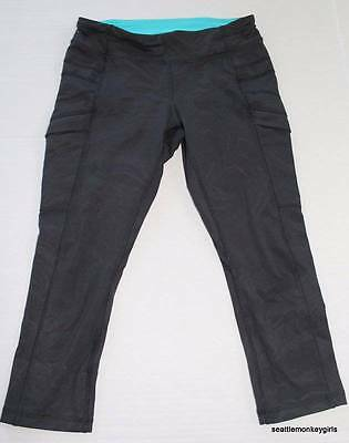 IVIVVA Dance Cropped Pants Girls Lululemon Black Tight Crop 12 Teal
